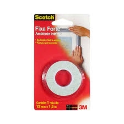 Fita Dupla Face Espuma Fixa Forte 12Mm X 1,5M Scotch 3M
