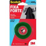 Fita Dupla Face Fixa Forte 400g 12mm X 2m 3m Scotch 21981