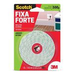 Fita Dupla Face Fixa Forte 500g 12mm X 5m 3m Scotch 09255