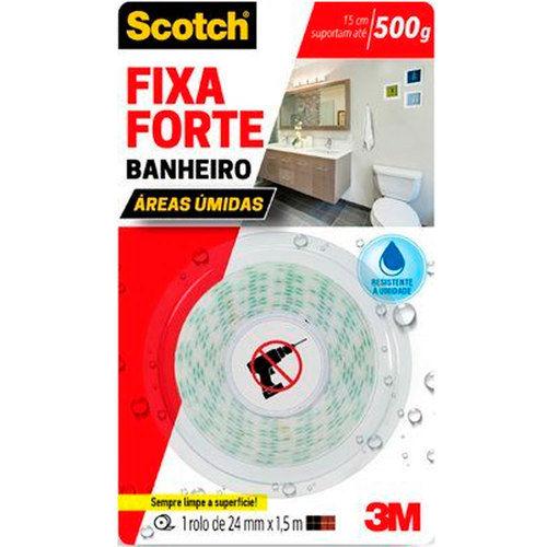 Fita Dupla Face Fixa Forte Banheiro 24 Mm X 1,5 M - Scotch - 3M