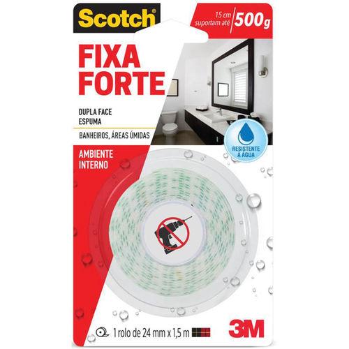 Fita Dupla Face Fixa Forte Banheiro 24mm X1,5m 3m