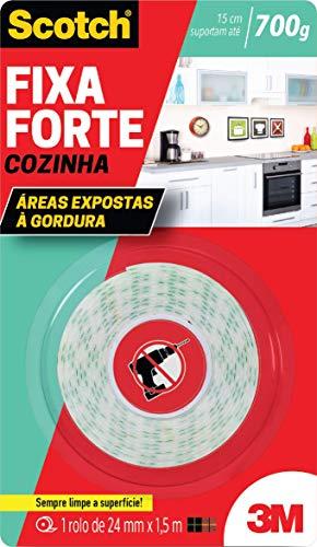Fita Dupla Face Fixa Forte Cozinha, Scotch HB004522957