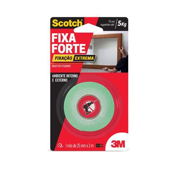 Fita Dupla Face Fixa Forte Extreme 24mm X 2m - 3M