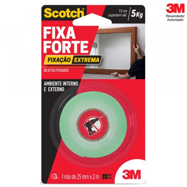 Fita Dupla Face Fixa Forte Extreme 24mm X 2m 3M