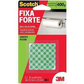 Fita Dupla Face 3M Scotch® Fixa Forte Espuma - 16 Quadros