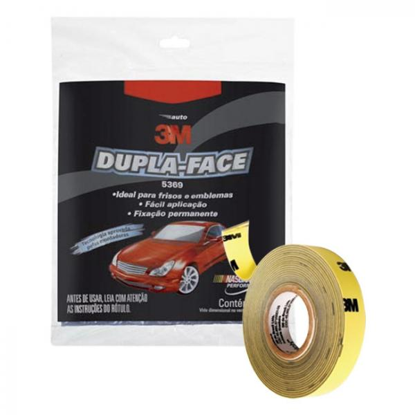 FITA DUPLA FACE TRANSPARENTE 19MM X 20M - 3m