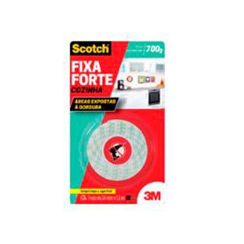 Fita Fixa Forte 24mmx1,5m Cozinha 3m