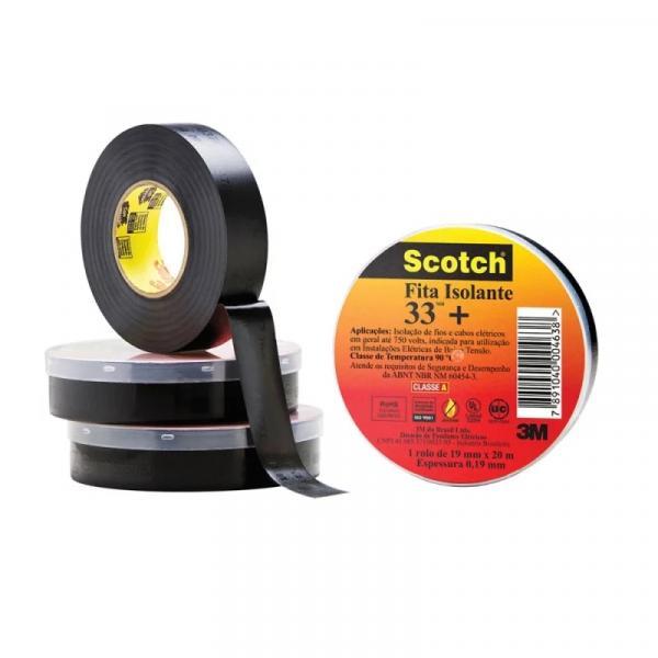 Fita Isolante 19mm X 20m X 0.19mm 33+ Scotch - 3m