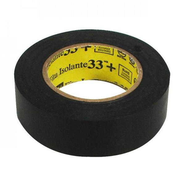 Fita Isolante 19mm X 10m 33+ Preta 3M