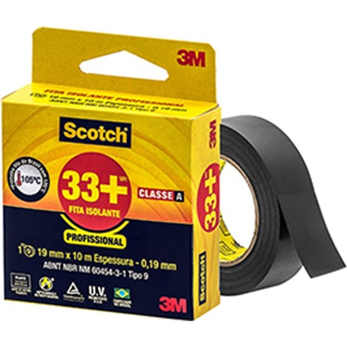 Fita Isolante 19Mm X 5M - Scotch 33+ - 3M
