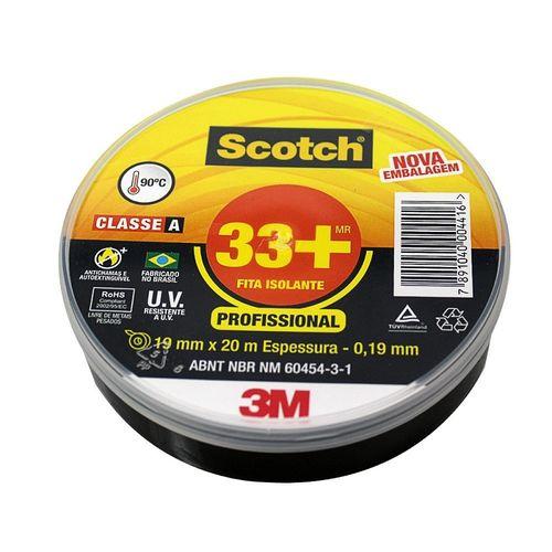 Fita Isolante Scotch® 33+ - 19mm X 20m