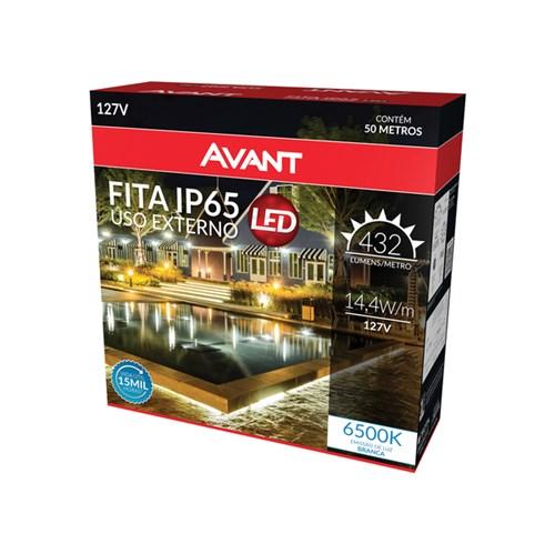 Fita LED Luz Branca 50m IP 65 Avant 127V (110V)