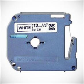 Fita P/ Rotulador Pt Brother M231 - Largura: 12Mm, Comprimento: 8Mm, Preto/Branco