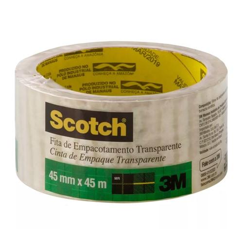 Tudo sobre 'Fita para Empacotamento Transparente Scotch 45mm X 45m 1 Rolo'