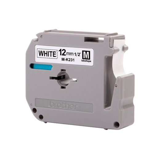 Fita para Rotulador Brother M-k231 12mm Preto Sobre Branco (000003164563)