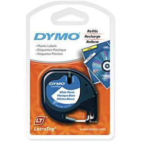 Fita para Rotulador Dymo Plástico Branco - Letratag 91331