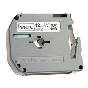 Fita para Rotulador M231 12mmx8m Preto/Branco - BROTHER