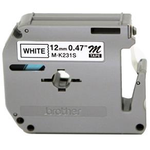 Fita Rotulador Brother | 12mm | PT85/65 M-231 | Preto/Branco