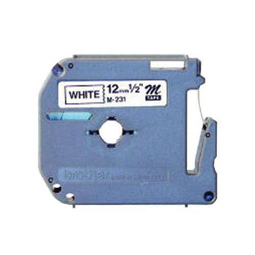 Fita Rotuladora M231 Brother - Preto / Branco, Unidade