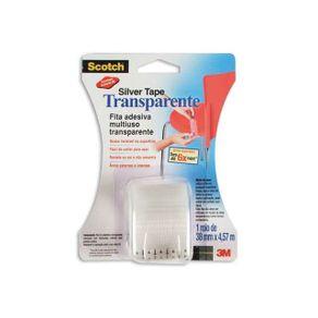 Fita Silver Tape Scotch Transp. 38MmX4,57M 3M