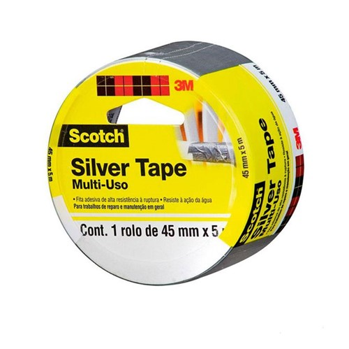 Tudo sobre 'Fita Silver Tape Tartan - 45x5 - 3M'