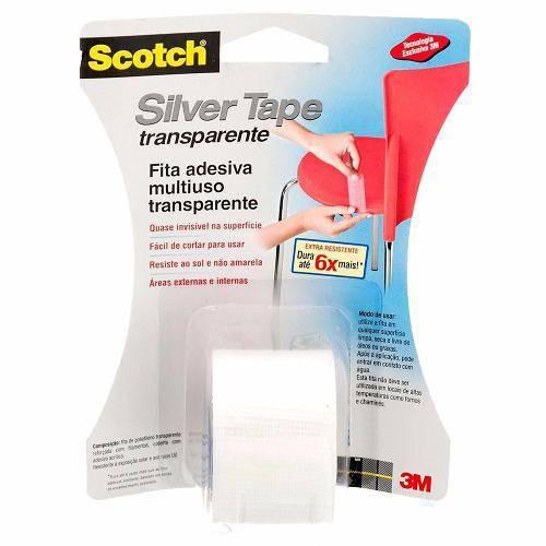 Fita Silver Tape Transparente 38.mm X 4,57 Metros - 3m