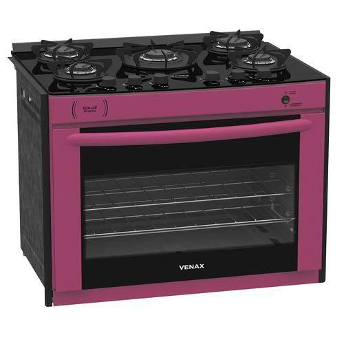 Tudo sobre 'Fogão a Gás de Embutir Gaudi Prisma Vitreo 5Q Pink GN 110V'