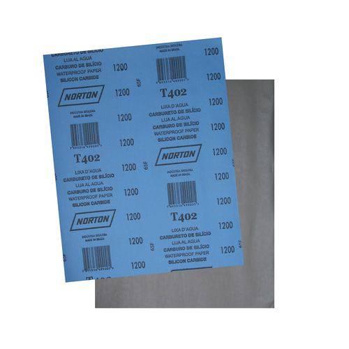 Folha de Lixa DÁgua Norton T223 225 X 275mm Grão 1200