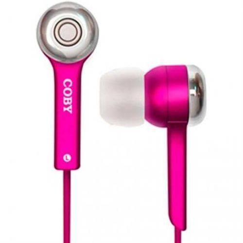 Fone Coby de Ouvido CVE52 Estéreo Digital Jammerz - Unissex - Rosa