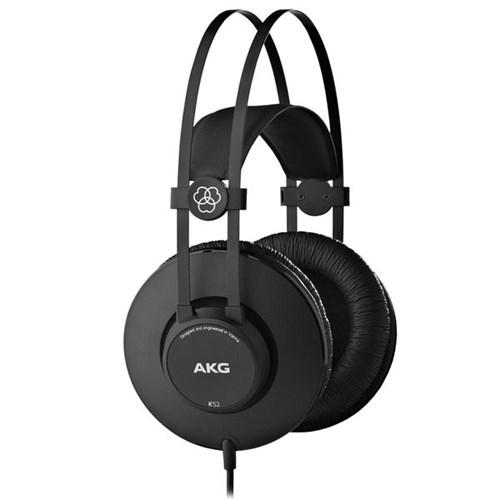 Fone de Ouvido Akg K52 Headphone Sistema Fechado Preto