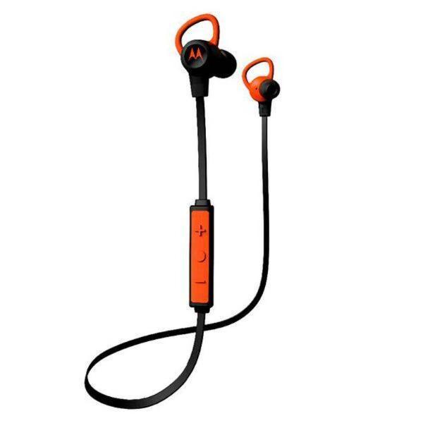 Fone de Ouvido Bluetooth Motorola Verve Loop + Preto com Laranja