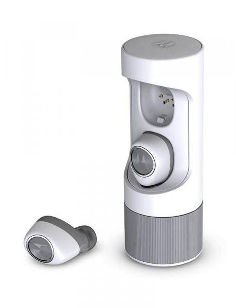Fone de Ouvido Bluetooth Motorola VerveOnes Music Edition - Cinza e Branco