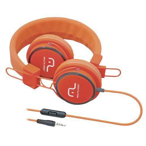 Tudo sobre 'Fone de Ouvido C/ Microfone Headfun Laranja - Multilaser'
