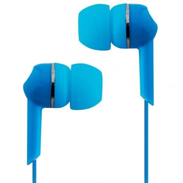 Fone de Ouvido com Fio Azul 3,5 Mm P2 Cve56 Coby