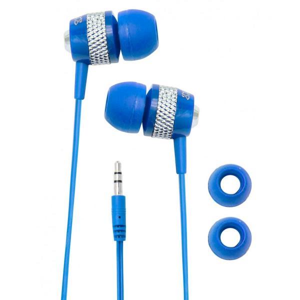 Fone de Ouvido com Fio Azul P2 112 Db Cve55 Coby