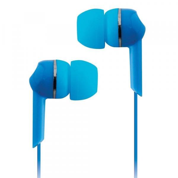 Fone de Ouvido com Fio Coby Azul - CVE56