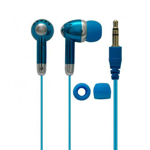 Tudo sobre 'Fone de Ouvido com Fio Coby Azul - Cve53'