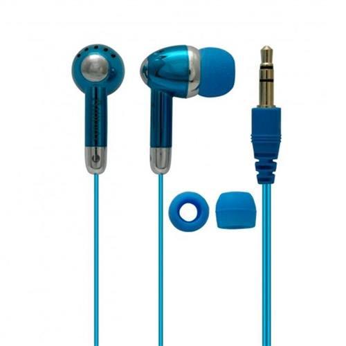 Fone de Ouvido com Fio Coby Azul - CVE53