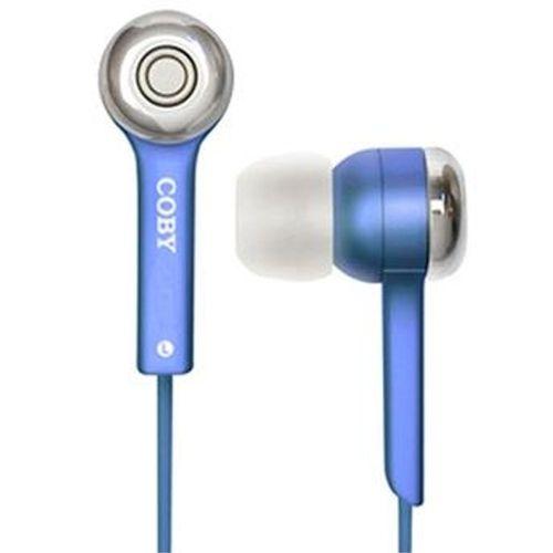 Fone de Ouvido com Fio Coby Azul - Cve52