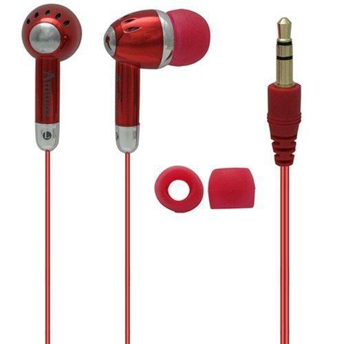 Fone de Ouvido com Fio Coby Vermelho - Cve53