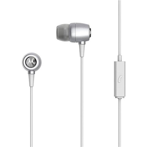 Fone de Ouvido Earbuds Metal - Sh009 - Motorola (Prata)