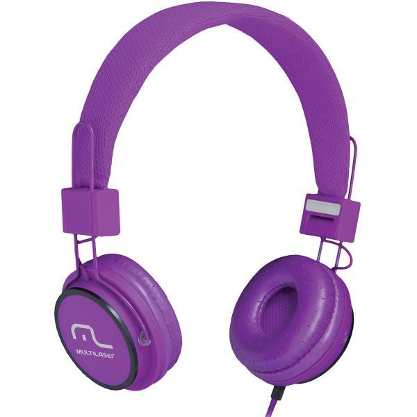 Fone de Ouvido Headphone Ph090 Fun Roxo Multilaser