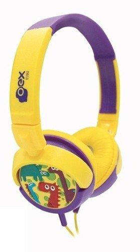 Tudo sobre 'Fone de Ouvido Infantil Oex Hp300 Dino Amarelo'