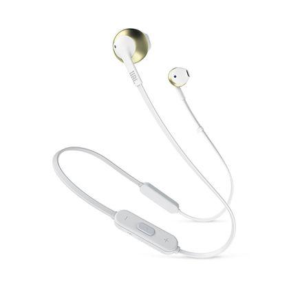 Tudo sobre 'Fone de Ouvido JBL Tune 205 BT Bluetooth - Branco com Dourado'