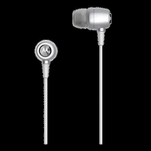 Fone de Ouvido Motorola Earbuds Metal Prata