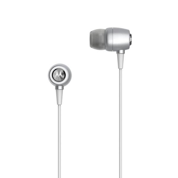 Fone de Ouvido Motorola Earbuds Metal Sh009 Intra-Auricular com Microfone Prata
