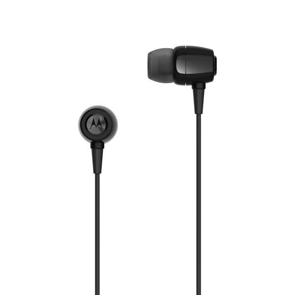 Fone de Ouvido Motorola Earbuds Metal Sh009 Intra-Auricular com Microfone Preto