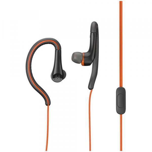 Fone de Ouvido Motorola Earbuds Sport, Intra-auricular com Microfone - Laranja