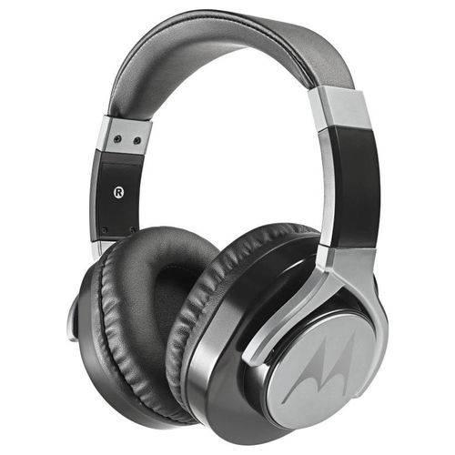 Fone de Ouvido Motorola Estereo Pulse Max, Cabo Destacável 1,2m com Microfone, Preto