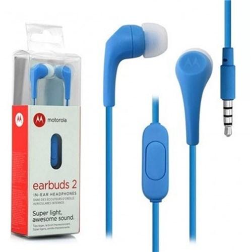 Tudo sobre 'Fone de Ouvido Motorola G4 Play Xt1600 Earbuds 2 Azul'